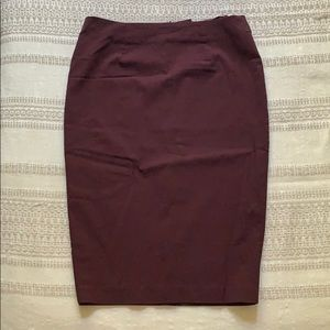 Burgandy Pencil skirt